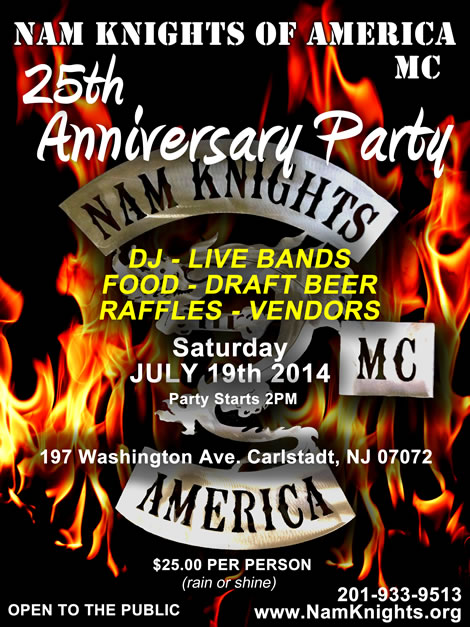 Event Details: Nam Knights 25th Anniversary Party Weekend